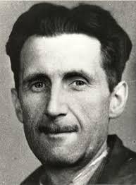 viso in primo piano di George Orwell