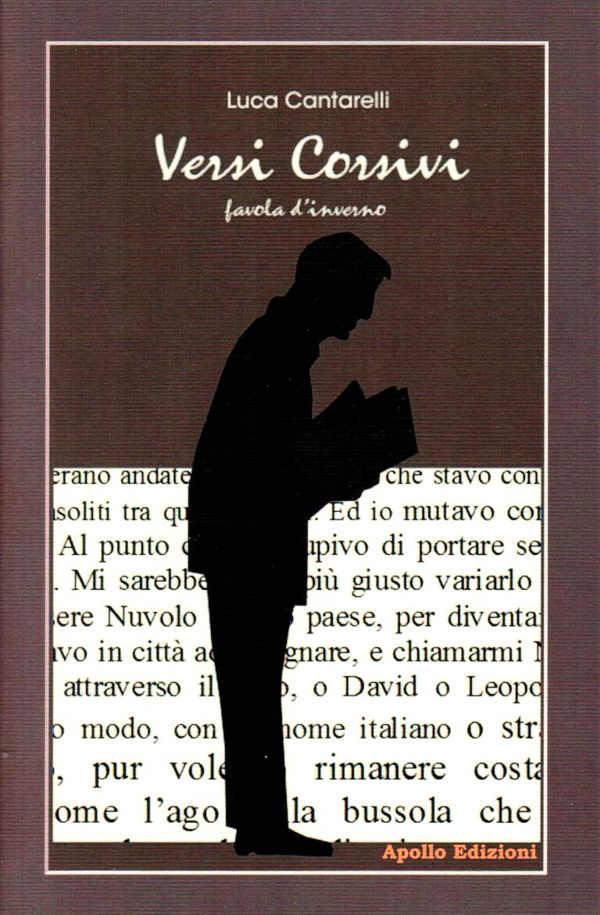 """copertina di """"Versi corsivi"""" di Luca Cantarelli"""