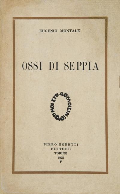 Copertina di Ossi di seppia di Eugenio Montale