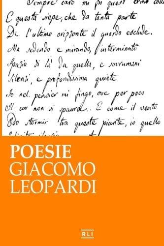 copertina raccolta poesie leopardi